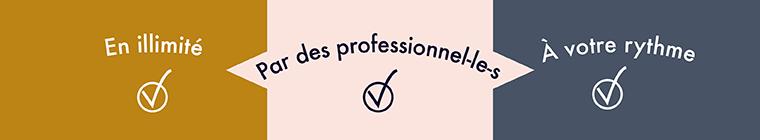 Les cours artesane sont donnés par des professionnels et sont disponibles en illimité